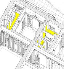 the mezzanine doors and floors are highlighted in yellow larger image