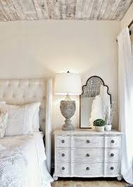 French Country Bedroom Desigh With Lots Of Whitewashed Surfaces
