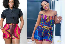 Ankara Shorts Designs For Ladies High Waist Ankara Shorts And Tops For Ladies To Rock This