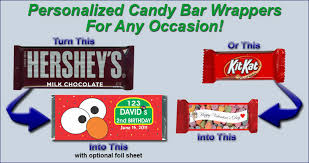 Personalized Hersheys Candy Bar Wrappers