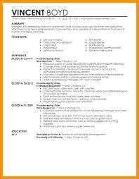 Example Of Housekeeping Resume Housekeeper Resume Housekeeper ...