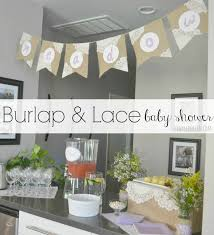 Burlap Banner On Twine Honest Co Diaper Cake Sophie Giraffe Baby Shower Burlap Banner