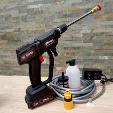 máy phun xịt rửa xe bằng pin 24V đa năng - tặng bình tạo bọt   Máy xịt rửa