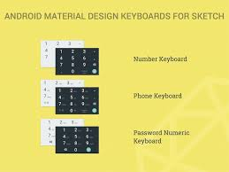 Android Material Design Numeric Keyboards Sketch freebie - Download ...