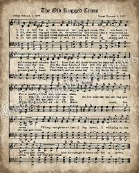 printable vintage sheet music the old rugged cross print printable vintage sheet music