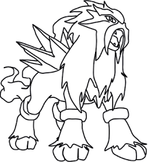 Small Picture Delightful Pokemon Coloring Pages Entei 11 mosatt