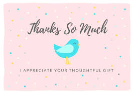 Baby Gift Thank You Note Thank You Note Wording Thanks For Ba Shower Gifts Baby Gift Thank