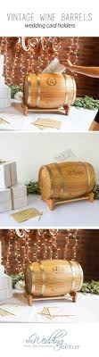 Personalized Rustic Wine Barrel Wedding Card Holders will catch your guests  eye and will definitely make a statement at your welcome table.