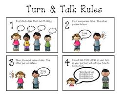 Turn And Talk Rules Anchor Chart Visual
