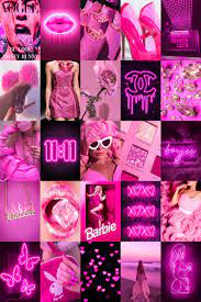 Photo Collage Kit Hot Pink Aesthetic ...