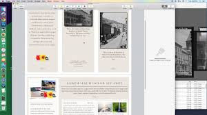 How To Make A Brochure On Microsoft Word Mac Tutorial Making A Brochure With Apple Pages