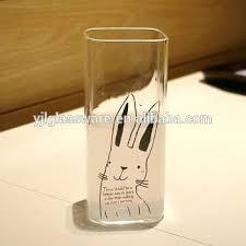 bulk wine glasses australia hand blown square shape drinking glass with custom logo