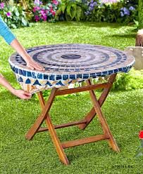patio ideas plastic round patio tablecloth patio tablecloth weights 30 pcs lot fitted mosaic table
