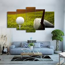 modern frames for paintings decorative 5 panel golf canvas art prints wall picture for home decoration on golf wall art near me with modern frames for paintings decorative 5 panel golf canvas art