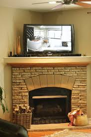 corner fireplace update and decorating ideas for the mantel amusing corner fireplace mantels