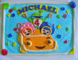 TEAM UMIZOOMI Milli Geo Bot Umicar Personalized Fondant Cake