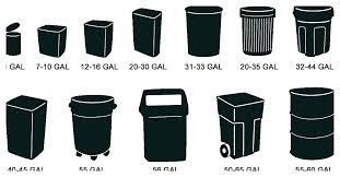 Dumpster Sizes Chart Trash Can Sizes Trash Can Sizes Waste Management Trash