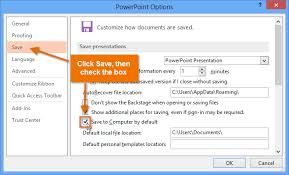 Powerpoint 2013 Template Location Powerpoint 2013 Saving And Sharing