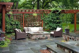 patio patio privacy ideas screen pool with wood modern outdoor dining table fire pit in