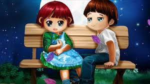 3d love couple cartoon wallpapers 3d wallpaper hd
