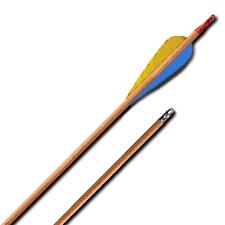 """<b>Стрела лучная деревянная</b> 28"""" (<b>натуральное</b> оперение)"""