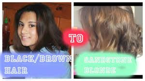 how to black brown to sandstone blonde hair no bleach on short hair you