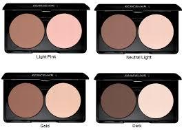 memperbaiki ukuran wajah menggunakan kontras cahaya dan bayangan gunakan warna gelap di area berongga agar wajah tak lebih kecil sedangkan warna