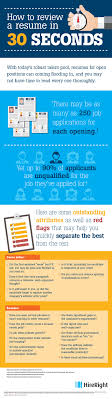 Resume Review How To Review A Resume In 100 Seconds [Infographic] HireRight 60