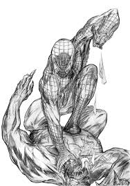 Small Picture Coloring Pages Spiderman Fighting Venom Coloring Pages