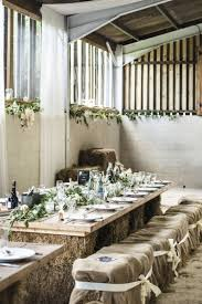 Barn Decor Hessian Flowers Rustic Hay Bale Table Chilled Country Boho White  Green Wedding http: