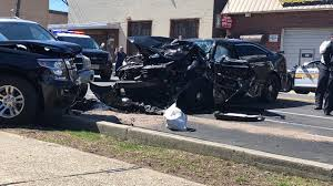 paterson new jersey police officer killed when patrol car crashes into parked vehicle abc7ny