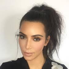 kim kardashian ponyl without extensions 18