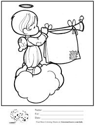 Printable 17 Precious Moments Angel Coloring Pages 7361 - Precious ...