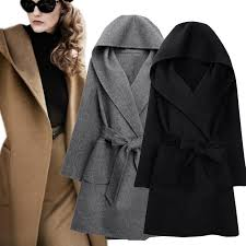 2019 autumn trendy street women s wool blend trench coat casual long two sides wear belted loose clothing mx8 from candice98 41 73 dhgate com