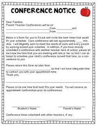 parent teacher conference letters sample parent teacher conference letters rome fontanacountryinn com