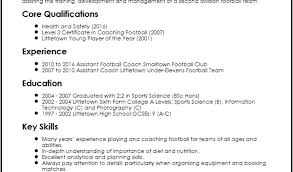 Football Coaching Resume Template Football Cv Template Metabots Co