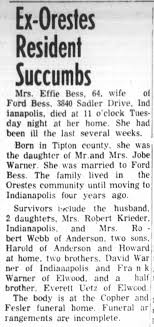 Effie Warner (1890-1956) obituary - Newspapers.com
