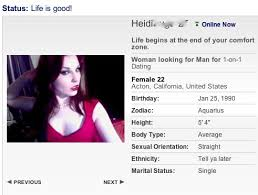 online dating website profiles