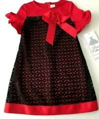 Details About Nwt Rare Editions Girls Red Black Lace Party Holiday Dress Size 4 4t New