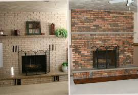 paint brick fireplace before after