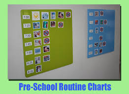 Routine Chart Ideas Magentic Routine Charts For Kids Families Love The Idea