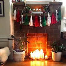 fill a fireplace with candles