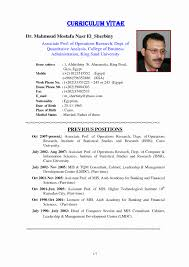 Mis Resume Format Awesome Cv Template Doc Download Professional