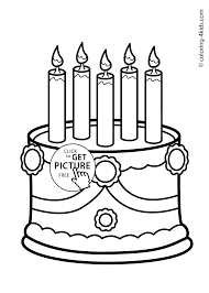 Small Picture Cake Birthday Party Coloring Pages for 5 years coloring pages
