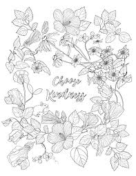 Choose Kindness Coloring Page By Monettestudio On Etsy Color Me