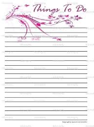 Things To Do List Pdf Ijbcr Co