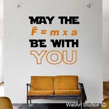 star wars force science wall sticker