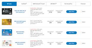 bank of montreal air miles credit cards