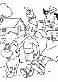 Inspector Gadget Coloring Pages Coloring Page Christmastoysceocom