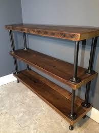 fascinating wood and pipe bookshelves reclaimed shelf shelving